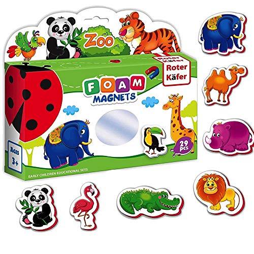 Roter Kafer Imanes nevera para niños Animales Zoo 29 piezas- Animales juguetes- Juguetes magneticos- Animales granja juguetes- Juegos magneticos- Animales para niños- Juguetes para niños