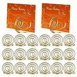 Mwoot Soportes de número de mesa 20 piezas, forma de alambre Nombres de tabla...