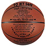 Tree Life Engraved Basketball Gifts for Son - Your Limitation It's Only Your Imagination - to My Son from Dad Christmas Birthday Gifts Indoor/Oudoor Personlized Basketball 29.5 Inch