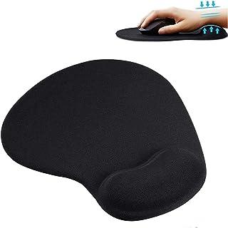 GIMart マウスパッド 手首クッション 低反発 疲労軽減 リストレスト一体型 PCマウスパッド 安定 オフィス パソコン周辺機器 PCアクセサリー パッド マウス用 レーザー式 光学式 ボール式 対応 ブラック