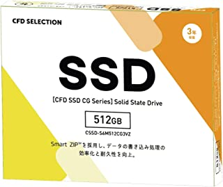 CFD販売 内蔵SSD 2.5インチ SATA 6Gbps 接続 CG3VZシリーズ 512GB 3年保証 CSSD-S6M512CG3VZ