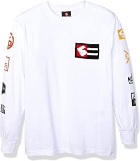 SOUTHPOLE Unisex-Child Long Sleeve Chenille Tee Long Sleeve Shirt - Black - X-Large
