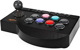 MoPei PXN Arcade Fight Stick, USB Wired Fighting Joystick Game Controller for PS4 / PS3 / Xbox One / PC Fighting Games