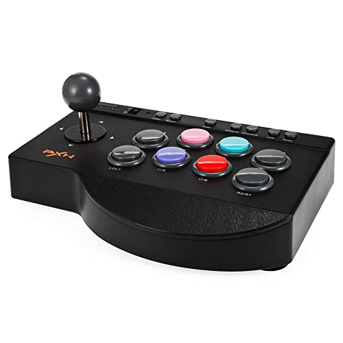 MoPei PXN Arcade Fight Stick, USB Wired Fighting Joystick Game Controller for PS4 / PS3