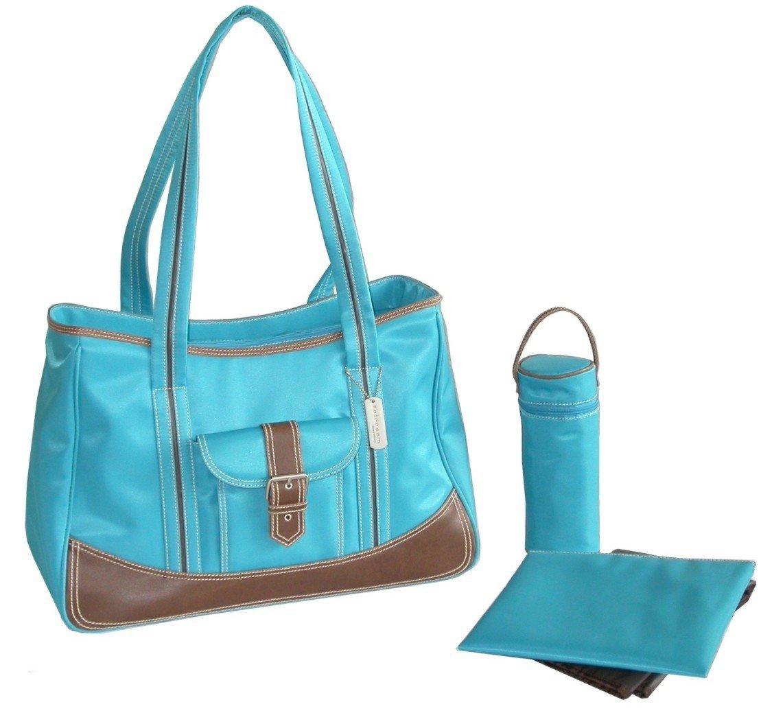 Canvas-Tasche Kalencom Fashion Wickeltasche Mama Tasche Fleur de Lis Schokolade Weekender