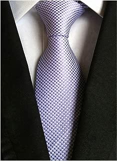 Men's Classic Solid Color Ties Soft Business Casual Attire Suit Neckties