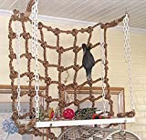 Parrot Birds Climbing Net Jungle Fever Rope Small Animals Toys (Thick, L)