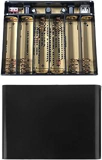 JIACUO USB 5 V 2 A DC 12 V 10 A utgång 6 x 1 8650 batterier DIY Power Bank Box Laddare för Cellph WiFi Router Ljus Säkerhe...