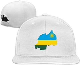 ONE-HEART HR Baseball Cap Flag Map of Rwanda Adjustable Custom Flat Peaked Hat Unisex