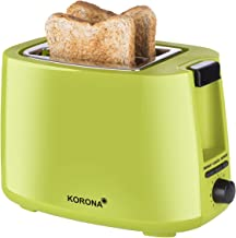 Korona 21133 Broodrooster   groen  2 sneetjes broodrooster   750 Watt   met broodjesopzetstuk en een ontdooi- en opwarmstand