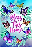 """Morigins Bless This Home Decorative Spring Butterfly Double Sided House Flag 28""""x40"""""""