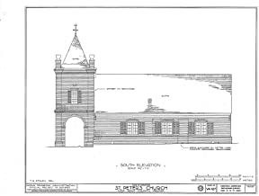 Historic Pictoric Structural Drawing HABS VA,64-TUN.V,4- (Sheet 3 of 9) - St. Peter's Church, State Route 642, Tunstall, New Kent County, VA 55in x 44in