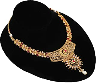 Pink Choker Necklace Jhumka Earrings Jewellery Online Shopping Lowest Price