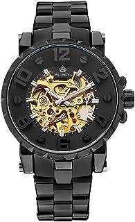 mg. orkina mens golden automatic mechanical wrist watch