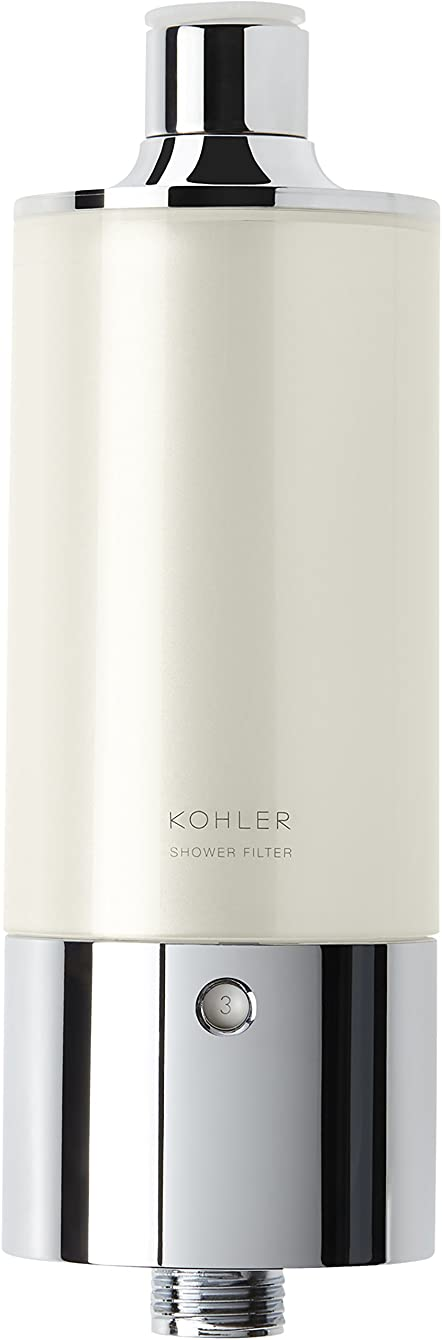 Kohler 30646-CP Aquifer Shower Water Filtration System, Reduce Chlorine and Odor, Includes Filter Replacement