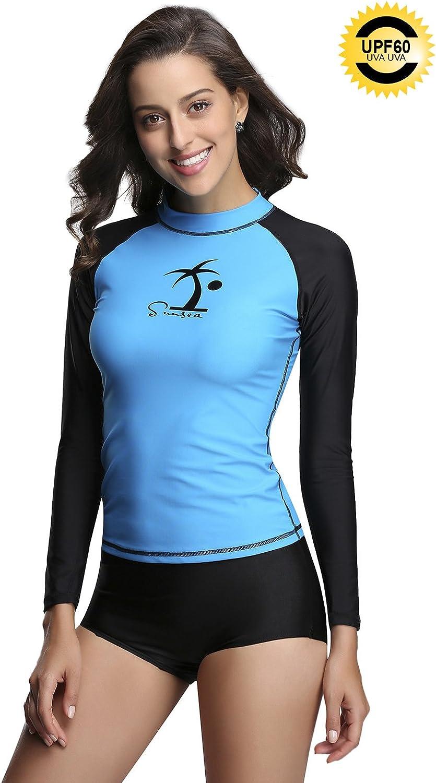 Sunsea Rashguard for Women, Long Sleeve Rash Guard, Sun Predection Swimsuit Top, UPF 50
