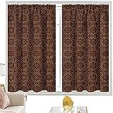 Cortinas y cortinas Borgoña, Motivos orientales W42 x L63 pulgadas cortinas opacas