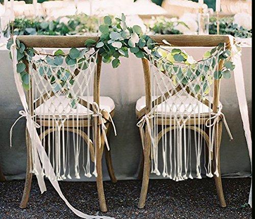 Flber Wedding Chair Hanger Macrame Wall Hanging Home Décor Handwoven, Set of 2
