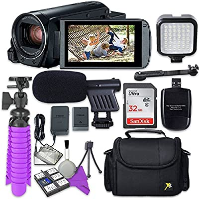 Canon VIXIA HF R800 Camcorder & Sandisk 32 GB SD Memory Card + Video Accessory Bundle by Canon