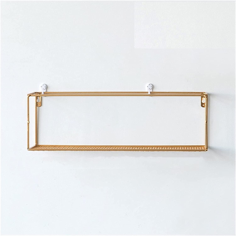 rongshengxinye Shelf Nordic Iron Wall Overseas parallel import Online limited product regular item Gol Hanging Racks Creative