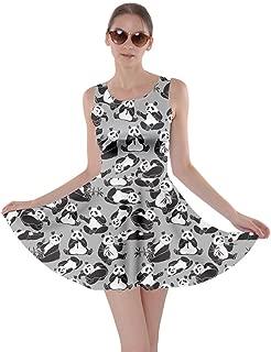 Womens Dog Cat Horse Pig Hippo Sheep Rabbit Panda Animal Skater Dress, XS-5XL