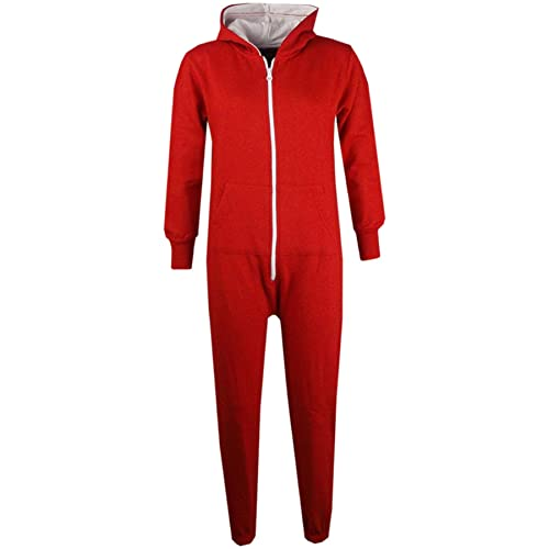 4c31c8ec78 A2Z 4 Kids® Unisex Kids Girls Boys Plain Color Fleece Hooded Onesie All In  One