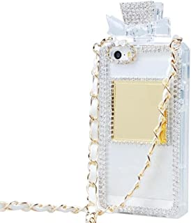 For iPhone7 Plus / iPhone8 Plus Case, Omio Perfume Bottle Cover With Necklace Neck Wrist Chain String Luxury Bling 3D Glitter Crystal Diamonds Rhinestone Shell For Apple iPhone 7 Plus / iPhone 8 Plus