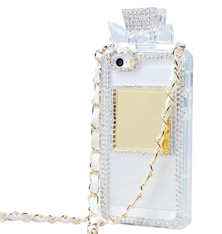 for iPhone6 Plus / iPhone6s Plus Case, Omio Perfume Bottle Cover Necklace Neck & Wrist Chain String Luxury Shiny 3D Glitter Crystal Diamonds Rhinestone Shell for Apple iPhone 6 Plus/iPhone 6s Plus