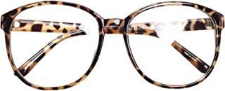Oversized Big Round Horn Rimmed Eye Glasses Clear Lens...