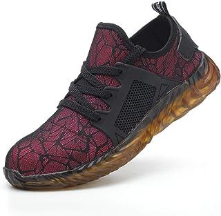 Zapatos De Seguridad En El Trabajo para Mujer Aleación Antideslizante Puntera Anticolisión Antideslizante Transpirable Ind...