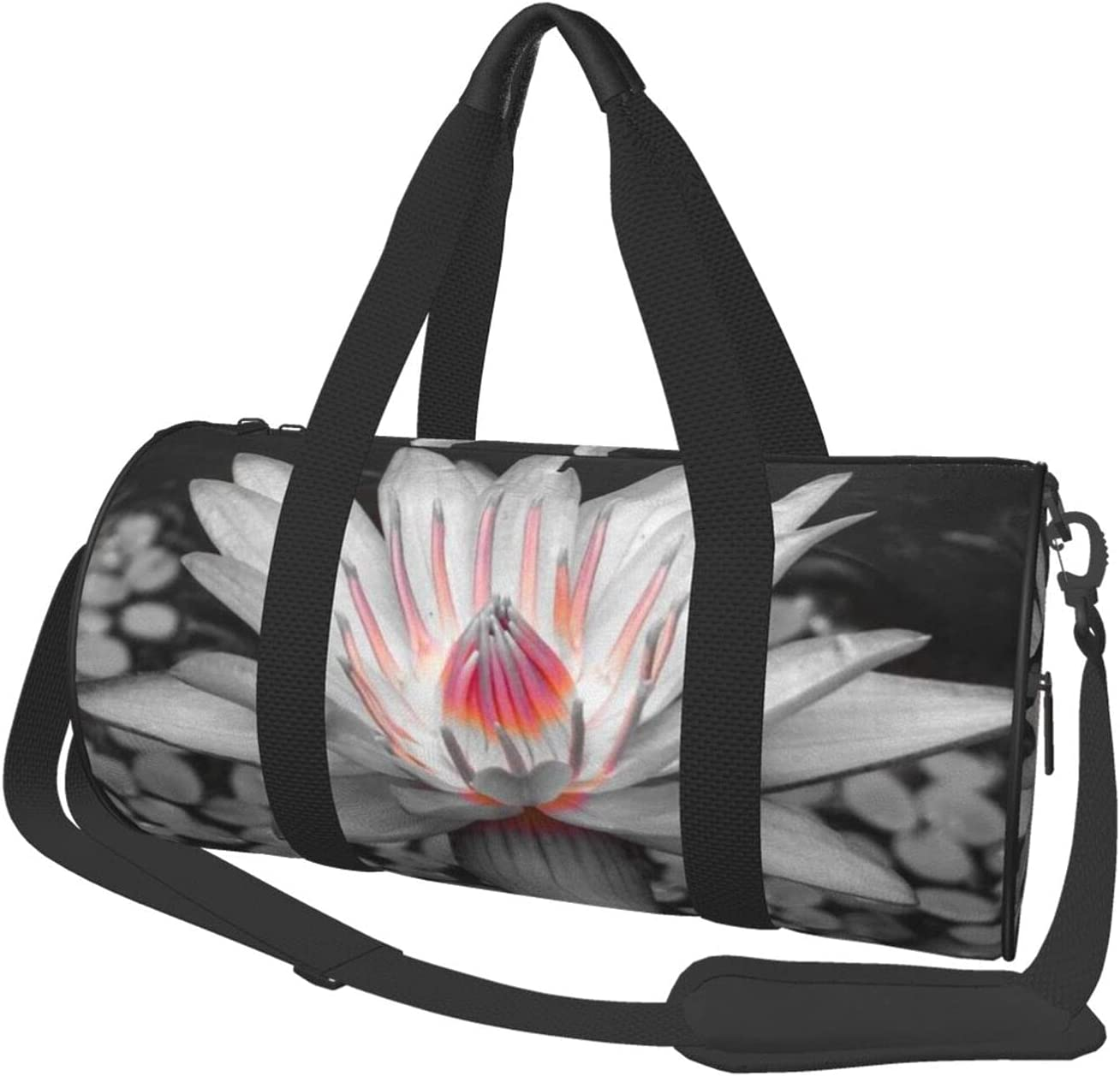 Round Sports Gym Bag Pink Lily Recommended Limited price sale Shoulder Tote We Handbag Yoga