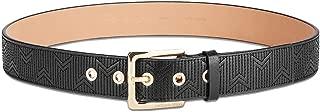 MICHAEL Michael Kors Womens Deco Quilted Leather Belt (Black, X-Large)