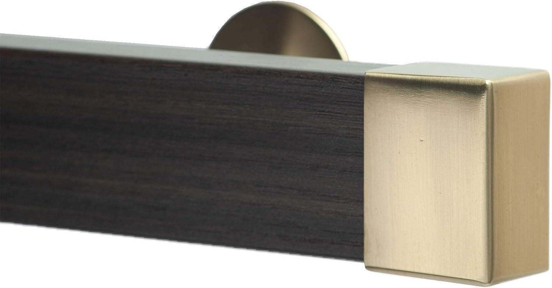 Amazon Com Infinette Kontur Evo Traverse Window Curtain Rod Set In Chocolate With Sahara Endcap 84 Inch Home Kitchen