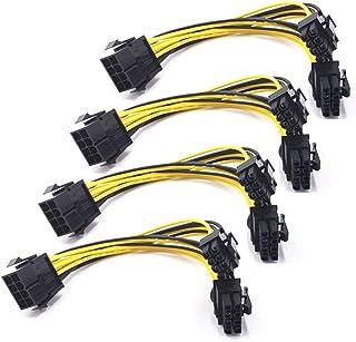 REYOK 8 Pines PCI Express a 2 X PCIe 8 (6 + 2) Pines y 6 Pines Motherboard Tarjeta gráfica de Video PCI-e GPU VGA Y-Splitt...