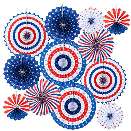 Homarden Patriotic Decorations - 4th of July Decor - American Flag Style Party Decoration - Red,...