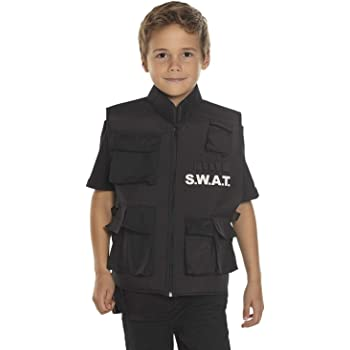 Boland 00488 Chaleco SWAT para niños, Negro, 5 – 10 años: Amazon ...