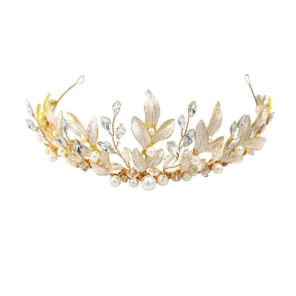Bridal Tiara Headpiece Hair Vine Jewelry Crystals Pearl Headband Wedding Party Evening Hair Accessories