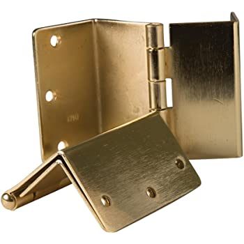 4 National Hardware N236-020//DPBF248 Full mortise swing clear hinges satin brass