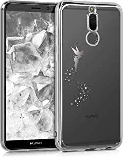 kwmobile Funda Compatible con Huawei P9 Carcasa de TPU Sol Azteca en Amarillo//Turquesa//Transparente