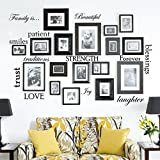 "12 Words Included and can be arranged and placed anyway you like Word size ranges from 5"" wide to 15"" wide - perfect size for most frame and wall sizes Made In USA with 100% USA Materials Vinyl decal can be applied practically anywhere, on smooth or ..."
