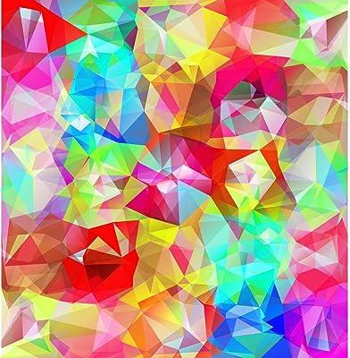 ArtzFolio Abstract Geometric Multicolored Triangles D4 Peel & Stick Vinyl Wall Sticker 20inch x 20.6inch (50.8cms x 52.4cms)