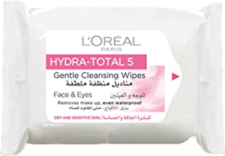L'Oreal Paris Pack of 25 Hydra Total 5 Gentle Cleansing Wipes