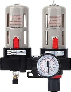 1/2inch BFC-4000 Oil-Water Separator Air Filter Pressure Regulator Combo Air Filter Source Treatment with Pressure Gauge, Aluminum alloy