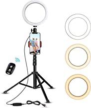 "8"" Selfie Ring Light with Tripod Stand & Cell Phone Holder for Live.."