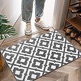 Tapis d'entrée de paillasson d'intérieur antidérapant lavable en machine doux tapis de sol absorbant géométrique pour la maison, le bureau, la cuisine, la salle de bain, la chambre à coucher 50 x 80cm