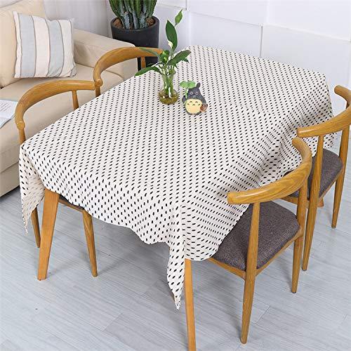 Creek Ywh Nordic Simple tafelkleed geel en zwart stippen klein grenen servies van katoen en linnen neto rood slaapkamer salontafel salontafel grenen wit en zwart, 100 x 140