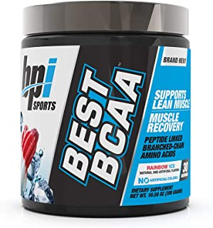 BPI Sports Best BCAA - BCAA Powder - Branched Chain Amino Acids - Muscle Recovery - Muscle Protein Synthesis - Lean Muscle - Improved Performance – Hydration – Rainbow Ice - 30 Servings - 10.58 oz.