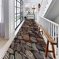 ラグ カーペット 広い 廊下 カーペットランナー スクロール廊下 長いです カーペット敷物ランナー 居間用 寝室 ショートパイル お手入れが簡単 、2色 (Color : B, Size : 0.5x7m)