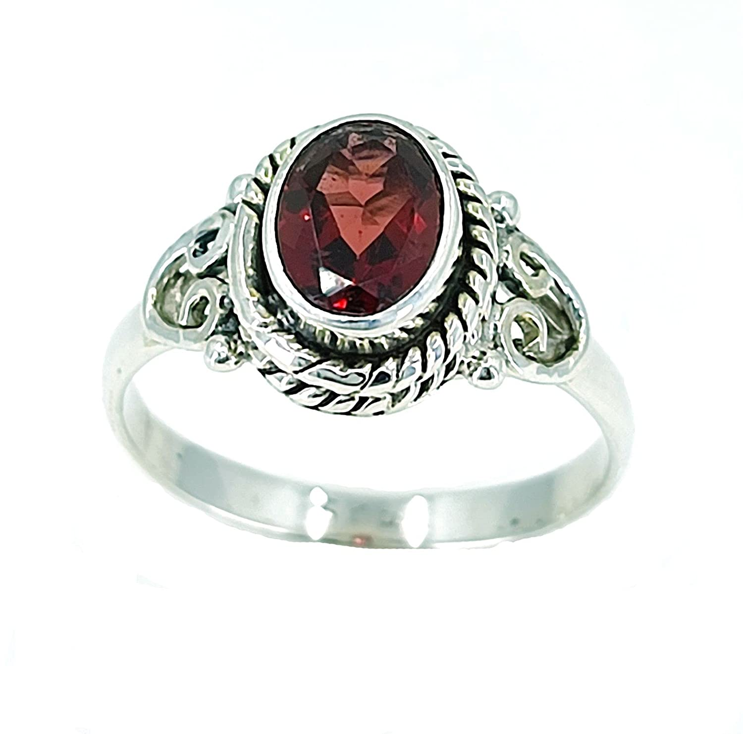 Navya Craft Garnet Silver OFFicial store Ring Solid Sterling 925 Handmad At the price