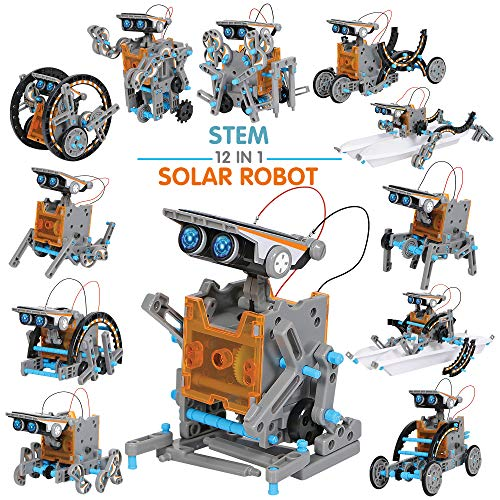 JOYIN Solar Robot Toys 12 in 1 Educational STEM Learning Science Creation Solar Power Building Kit for Kids.